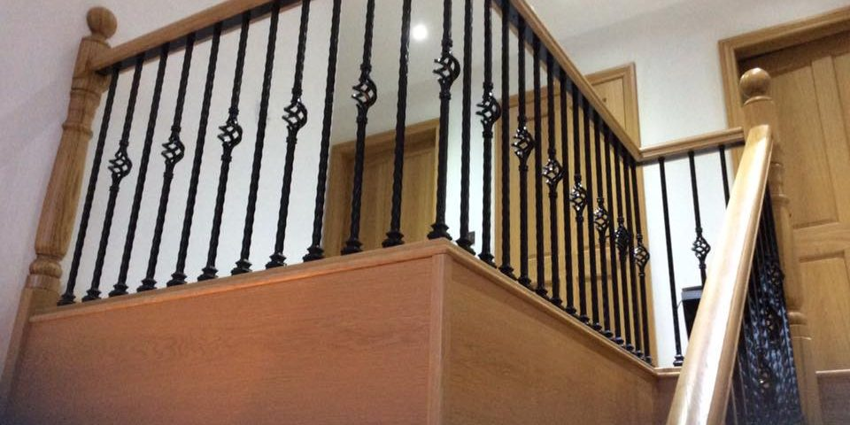 Wooden & Metal Staircase